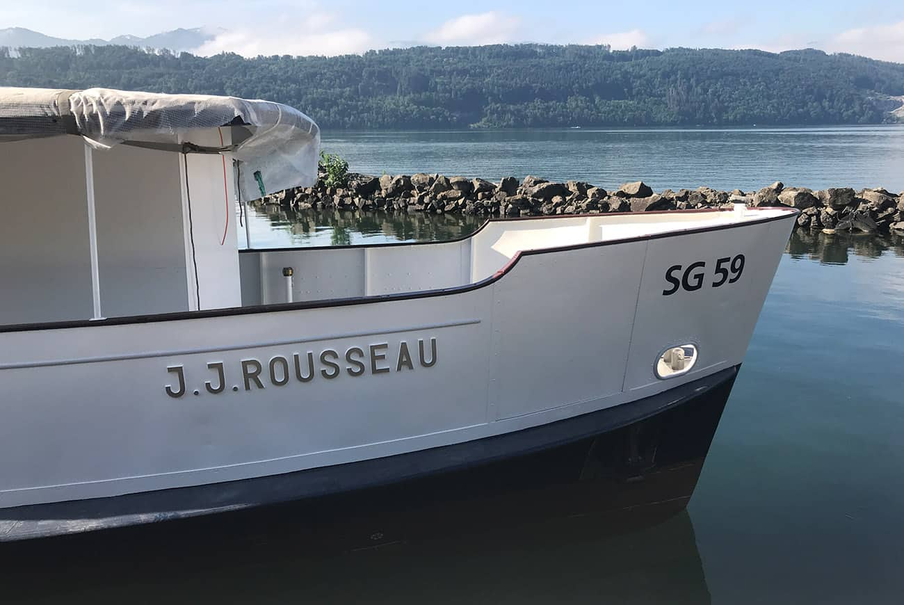 MS Jean Jacques Rousseau am Obersee