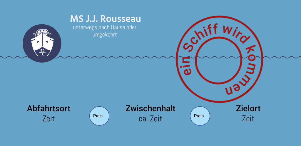 MS J.J.Rousseau Leerfahrt