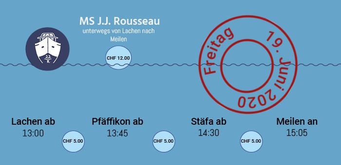 Passagierschiff J.J.Rousseau auf dem Zürichsee